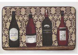 """Chef Gear Assorted Wines Faux Leather Anti-Fatigue 18"""" x 30"""" Cushioned Chef Mat"""