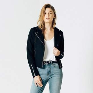 DSTLD Womens Cotton Moto Jacket in Black