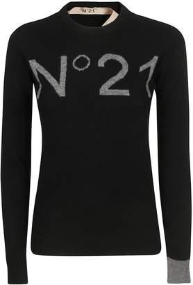 N°21 N.21 Contrast Logo Jumper