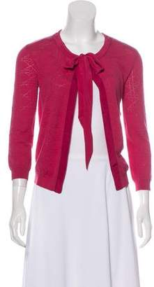 Christian Dior Open-Front Wool Cardigan
