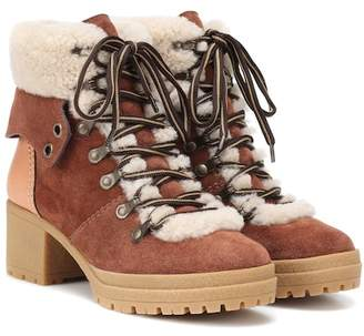 See by Chloe Eileen suede ankle boots