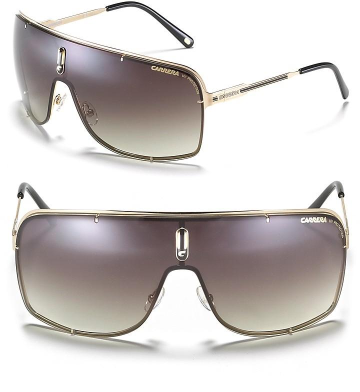 Carrera Square Aviator Shield Sunglasses