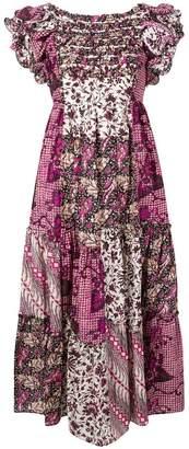 Ulla Johnson floral print patchwork dress