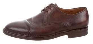 Bontoni Pointed-Toe Leather Oxfords
