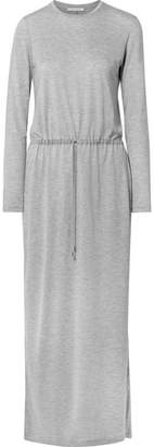 Ninety Percent - Belted Tencel Midi Dress - Light gray