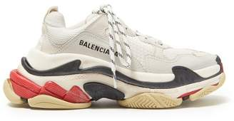Balenciaga Triple S Mesh Trainers - Womens - White Multi
