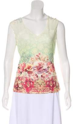 Alberto Makali Sleeveless Digital Print Top