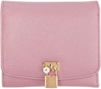 Dolce & Gabbana Pink Flap Wallet $445 thestylecure.com