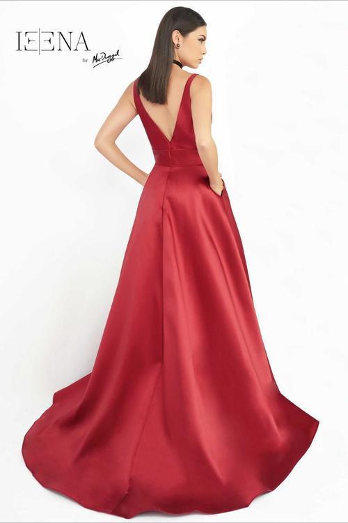 Ieena for Mac Duggal - 55010 Slip Gown In Wine