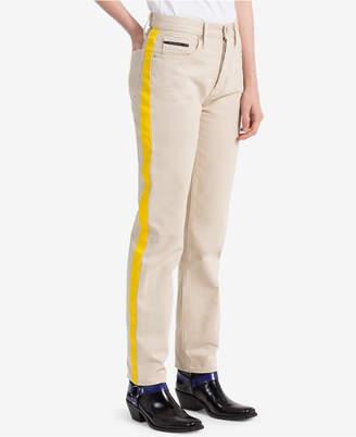 Calvin Klein Jeans Striped Khaki Straight Jeans