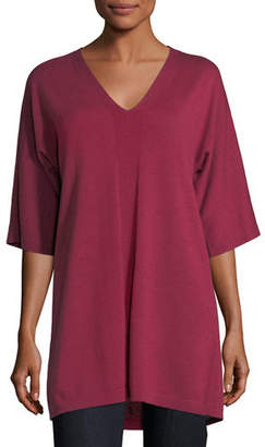 Eileen Fisher V-Neck Merino Jersey Tunic