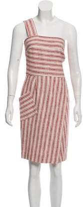 Rachel Zoe Patterned One-Shoulder Dress