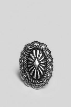 Gypsy Warrior Etched Concho Ring $26 thestylecure.com