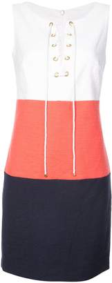 Trina Turk colour block lace-up dress