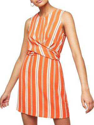 Miss Selfridge Striped Twist-Front Mini Dress