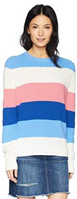 Cable Stitch Women's Colorblock Striped Sweater