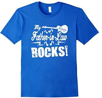 N. My Father-in-Law Rocks - Guitar Rock Roll Funny Gift Tee