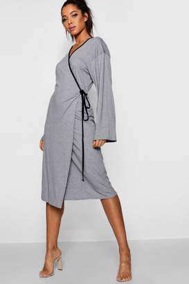 boohoo Maxi Wrap Kimono