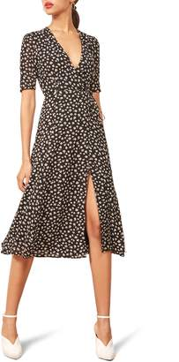 Reformation Mona Wrap Midi Dress