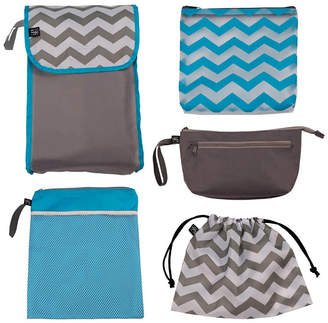 J L Childress 5-IN-1 Diaper Bag Organizer, Grey Chevron