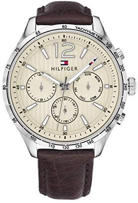 Tommy Hilfiger Men's 'Gavin' Quartz Stainless Steel and Leather Watch