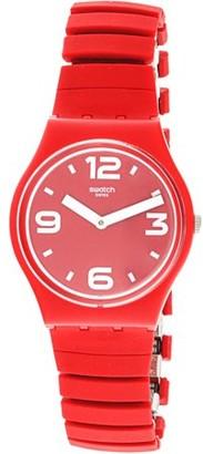 Swatch Chili GR173B Red Stainless-Steel Swiss Quartz Fashion Watch