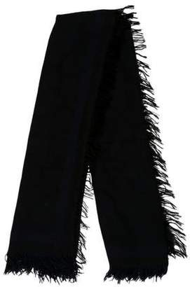 Stella McCartney Fringe-Edge Abstract Scarf