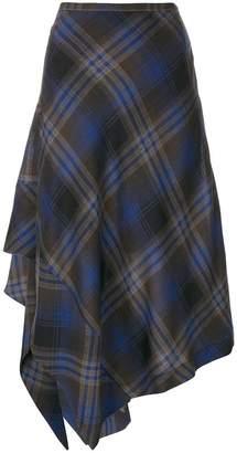 Etro asymmetric checked skirt