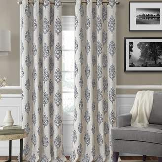 Elrene Home Fashions Navara Ikat Max Blackout Thermal Grommet Single Curtain Panel