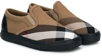 Burberry checked slip-on sneakers