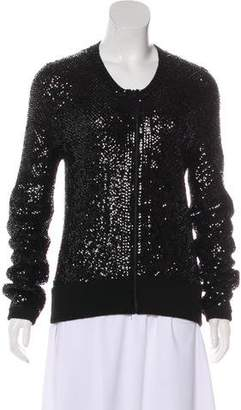 Tamara Mellon Sequin Embellished Zip-Up Jacket w/ Tags