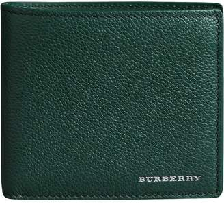 Burberry Grainy Leather International Bifold Wallet