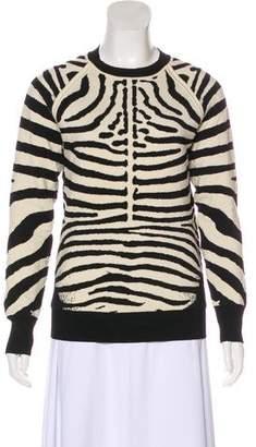 A.L.C. Jacquard Animal Print Sweatshirt