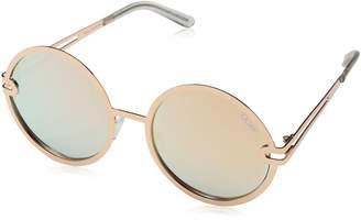 Quay Women's Mirrored Ukiyo QW-000153-GOLD/ROSE Round Sunglasses