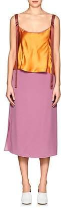 Sies Marjan Women's Mickey Silk Crepe & Charmeuse Dress