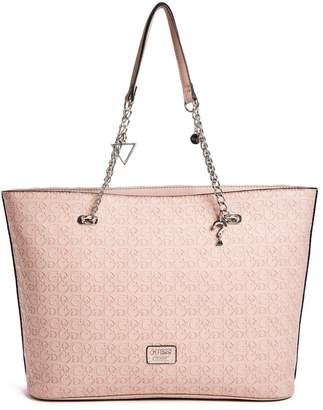 Factory GUESS Women's Larson Embossed Logo Tote
