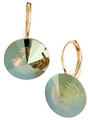 Women's L. Erickson 'Celeste' Round Crystal Drop Earrings $48 thestylecure.com