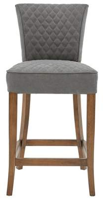 HomeFare Quilted Counter Stool Gray