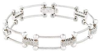 Charriol 18K Pavé Diamond Link Bracelet