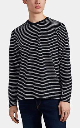 Rag & Bone Men's Railroad Striped Cotton T-Shirt - Navy