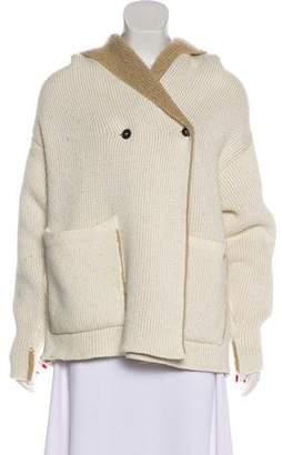 Woolrich Hooded Alpaca Cardigan