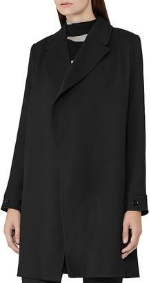 REISS Caspian Drape Front Coat $495 thestylecure.com