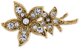 Rachel Roy Gold-Tone Crystal Flower Hair Clip