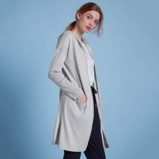 The White Company Lounge Hooded Cardigan , Pale Grey Marl, Extra Small