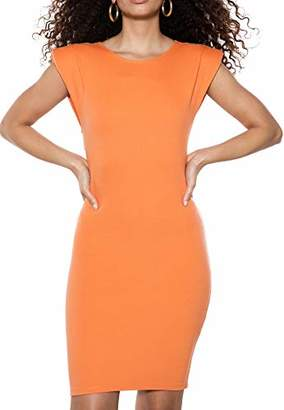 IVYREVEL Women's Shoulder Pad Mini Dress Orange 156), (Size:L)