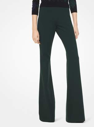 Michael Kors Stretch Wool-Crepe Flared Pants