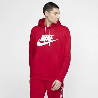 Nike Men's Graphic Pullover Hoodie Sportswear Club Fleece
