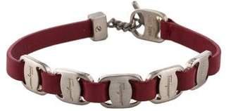 Salvatore Ferragamo Leather Toggle Bracelet