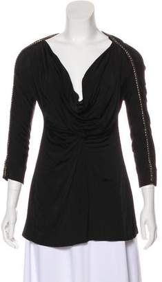 Just Cavalli Long Sleeve Accented Tunic