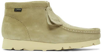 Clarks Beige Beams Edition Suede Wallabee GTX Boots